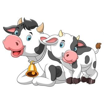 Ilustrações bonitos da vaca Baixar vetores grátis