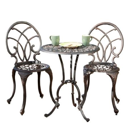 patio sets clearance hayden bronze aluminum bistro set