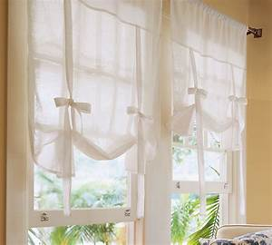 Pottery barn kids tie up curtain shade pink gingham 1pr ebay for How to make roll up curtains