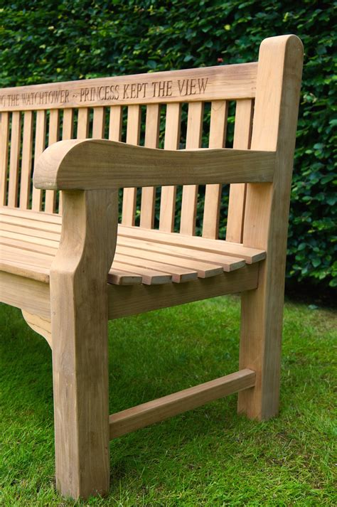 park land personalised wooden benches