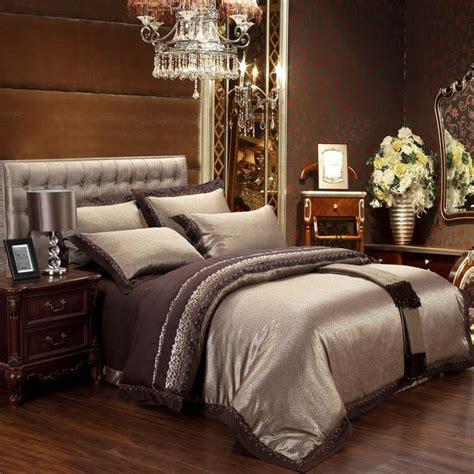 King Bedroom Duvet Sets by 6pcs Jacquard 100 Damask Luxury Silk Bedding Set King