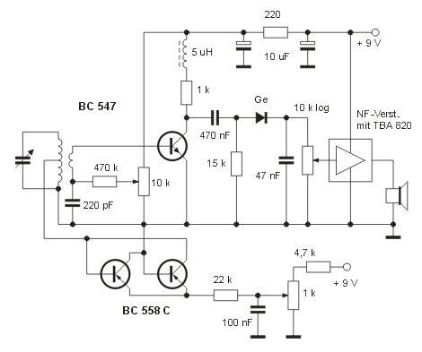 Receiver Three Transistor Radio Budget The