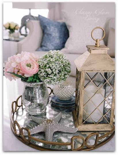 Living Table Tray Coffee Decor Styling Glam