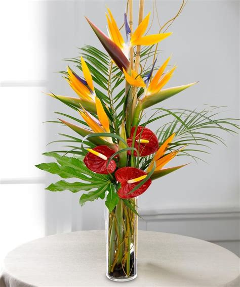 Tall Flower Stands For Centerpieces by Tropical Escape Bouquet Exotic Flowers Carithers Florist