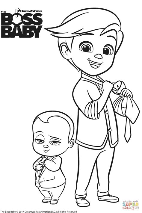 boss baby  tim templeton coloring page