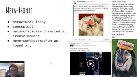 Post Ironic Memes - memes a microcosm of art history part 5 meta post irony youtube