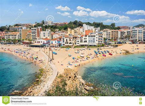 Blanes Beach Costa Brava Catalonia Spain Stock Image