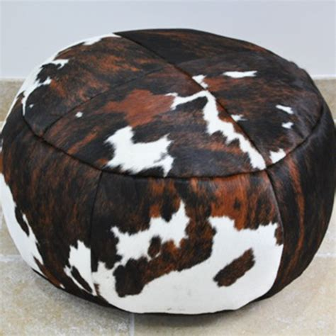 How To Cowhide by Cowhide Poufs