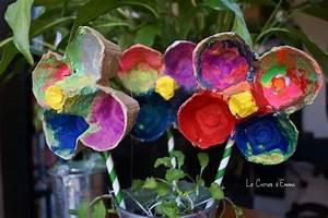 Bricolage 3 Ans : activit manuelle peinture bo te oeuf fleurs printemps ~ Melissatoandfro.com Idées de Décoration