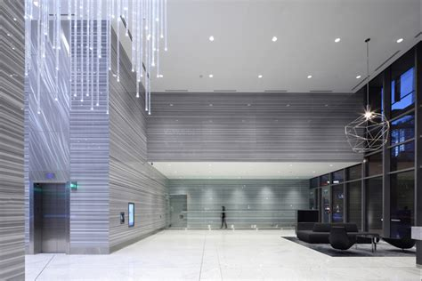 thurlow office tower public spaces  mcm interiors