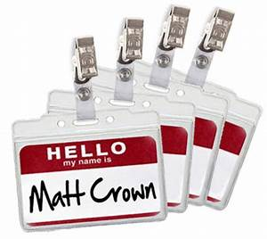 Name Tag Holders With Clip