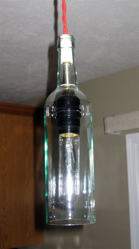 custom made wine bottle pendant light by milton douglas