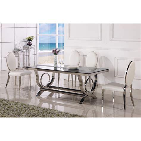 table a manger baroque table de salle 224 manger baroque en inox vienna pop design fr
