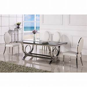 best table de jardin design inox images awesome interior With table a manger baroque
