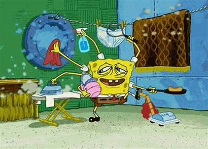 Clean Cleaning Things Spongebob Gifs Bob Caption