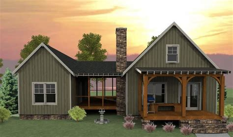 bedroom dog trot house plan mx cottage mountain vacation exclusive narrow lot