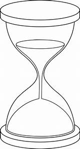 Hourglass Drawing Sand Coloring Clock Pages Line Tattoo Clip Drawings Printable Body Broken Illustration Lineart Clocks Hour Outline Clipart Sweetclipart sketch template
