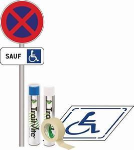 Panneau Stationnement Handicapé : kit panneau et pochoir stationnement handicap signals ~ Medecine-chirurgie-esthetiques.com Avis de Voitures