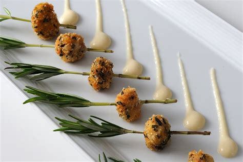 posh canapes recipes beignet of veal sweetbreads recipe great chefs