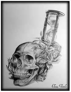 Skull Hourglass Tattoo Drawing