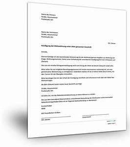 Muster Mietvertrag Kündigen : mietvertrag k ndigen musterbrief ~ Watch28wear.com Haus und Dekorationen