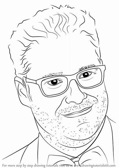Draw Seth Rogen Drawing Celebrities Step Tutorial