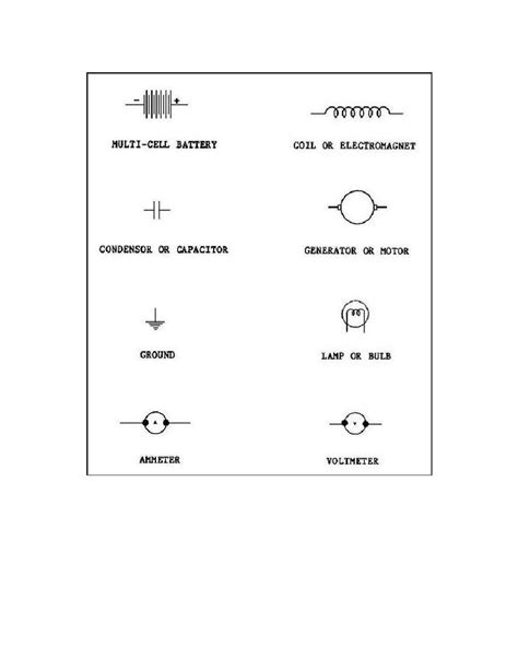 common automotive electrical symbols