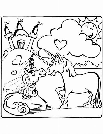 Unicorn Coloring Unicorns Pages Printable