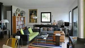 une villa aux couleurs du sud With tapis shaggy avec le corbusier lc3 canapé 3 places