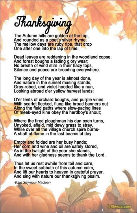 thanksgiving poems  collection  inspiring quotes