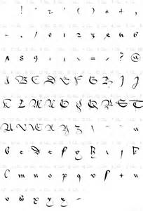 Old English Cursive Letters Fonts