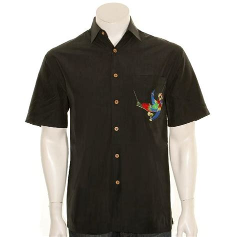 bamboo cay bamboo cay quot always five o clock quot s aloha shirt wb5000 blk bl hilo hattie the store