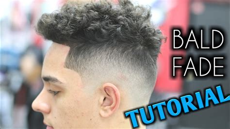 bald fade tutorial barber mens curly hair  top youtube