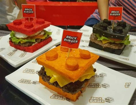 brick cuisine philippines burger joint quot brick burgers quot uses lego shaped