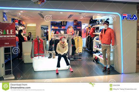 fila shop  hong kong editorial stock photo image