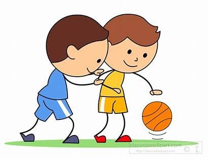 Basketball Playing Clipart Boy Boys Animated Play