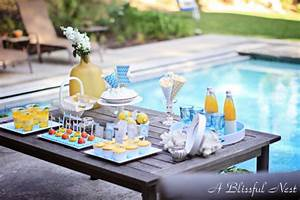 Summer Entertaining A Pool Party Bash A Blissful Nest