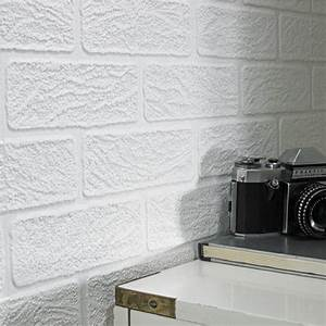 Graham & Brown Paintable White Brick Effect Vinyl ...