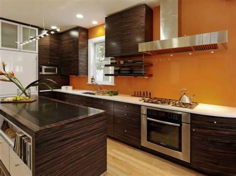 kitchen color ideas with brown cabinets orange paint colors for kitchens pictures ideas from 9190