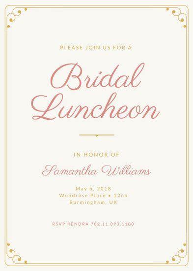 customize  luncheon invitation templates  canva