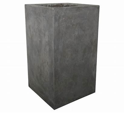 Concrete Square Planters Planter Tall Stone Base