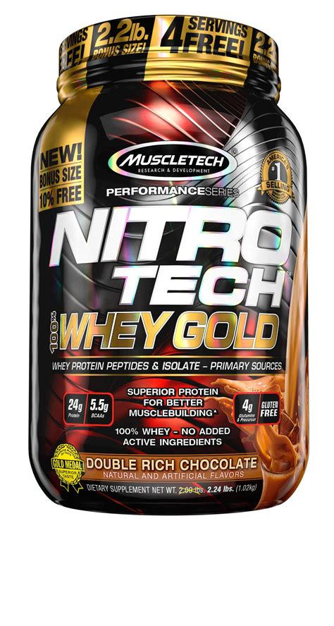 Amazon.com: MuscleTech NitroTech Whey Gold, 100% Whey