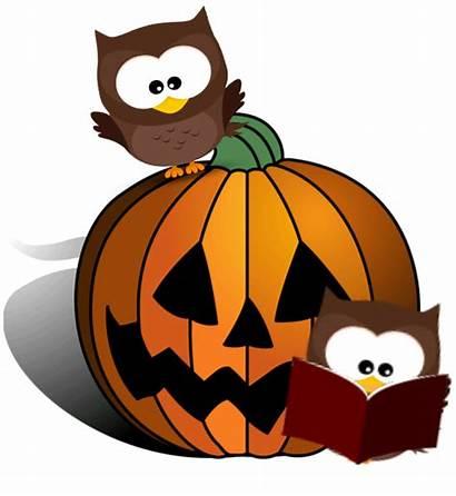 Halloween Reading Books Clipart Trick Treat Pumpkin