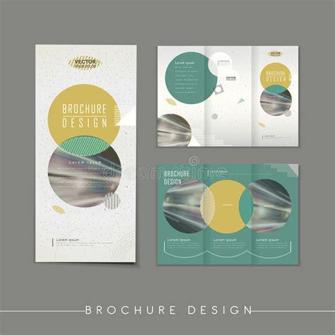 Simplicity Tri Fold Brochure Template Design Stock Vector Modern Abstract Tri Fold Brochure Template Design Stock