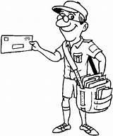 Coloring Mail Postman Delivery Truck Mailman Drawing Pages Carrier Letter Deliver Sheet Printable Drawings Sky Getcolorings Getdrawings Paintingvalley sketch template