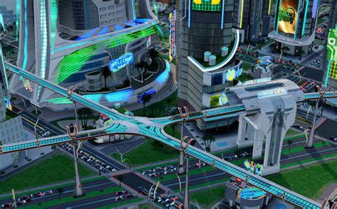 SimCity Cities of Tomorrow: Future Transportation Gallery