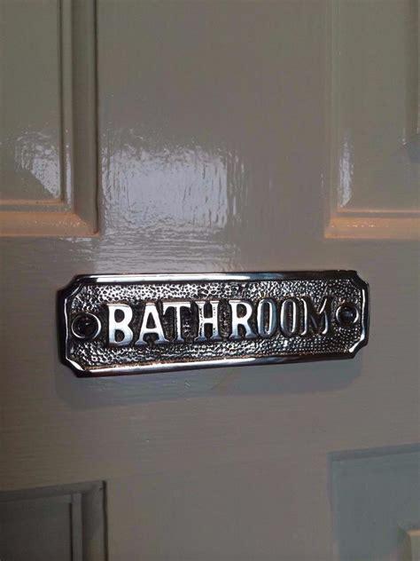 Toilet Bathroom Door Sign Plaque With Screws Solid