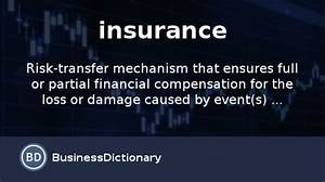 What is insurance? definition and meaning ...