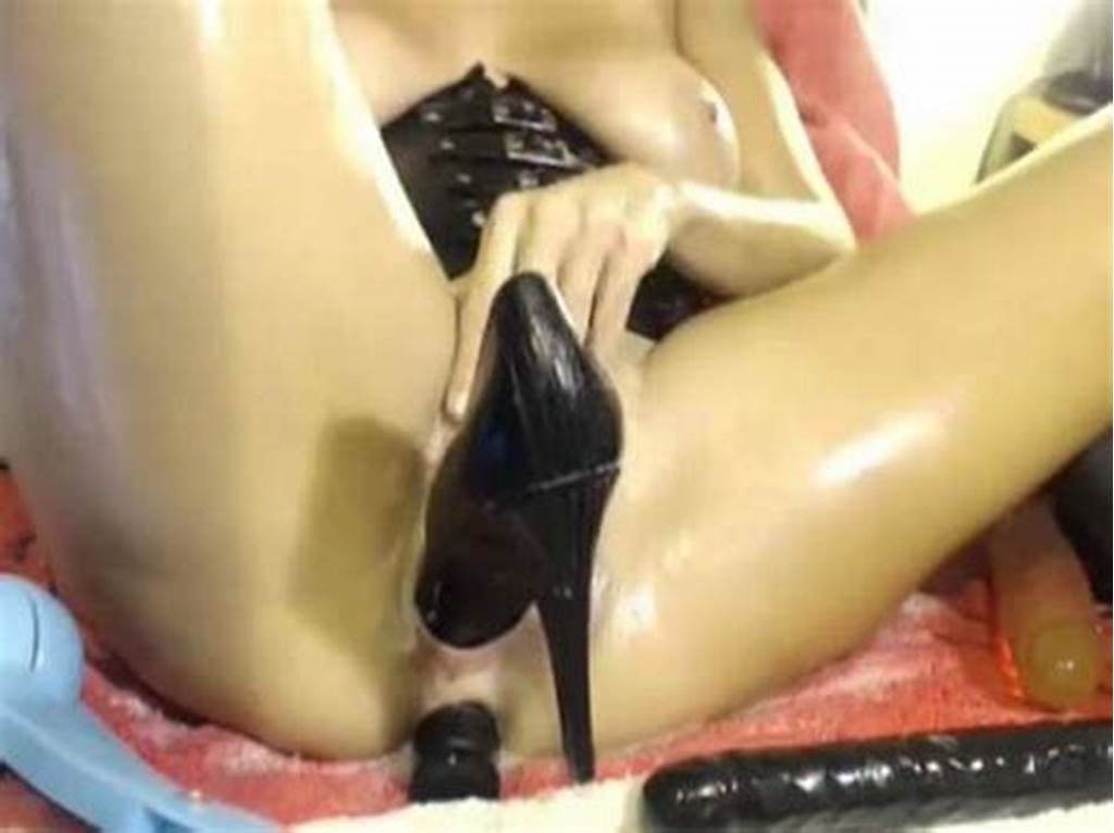 #Stunning #Milf #Shoes #And #Huge #Horse #Dildo #Inserted