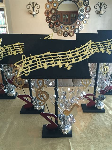 music themed table decorations music centerpieces pinteres